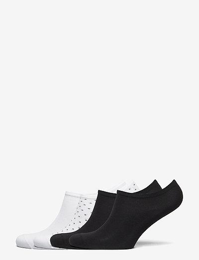 Footies 4 p Light cotton - sneakersokken - black