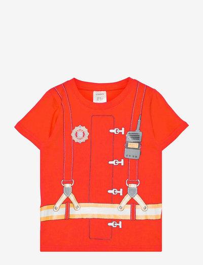 T shirt Fireman - kortärmade - red