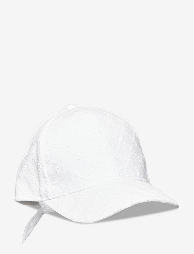 Cap roundpeak emb anglaise - huer & kasketter - white