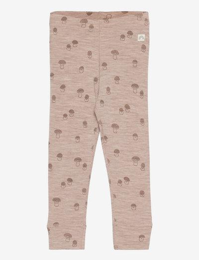 Leggings wool baby aop - leggings - beige