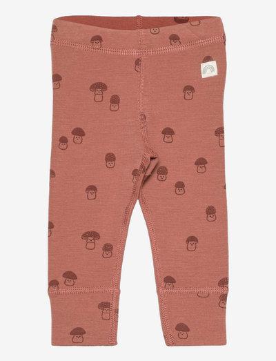 Leggings wool baby aop - leggings - pink
