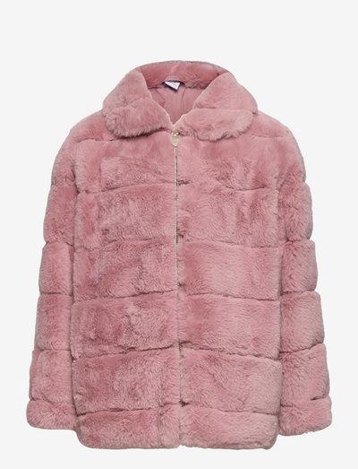 Jacket fur Tindra - faux fur - pink