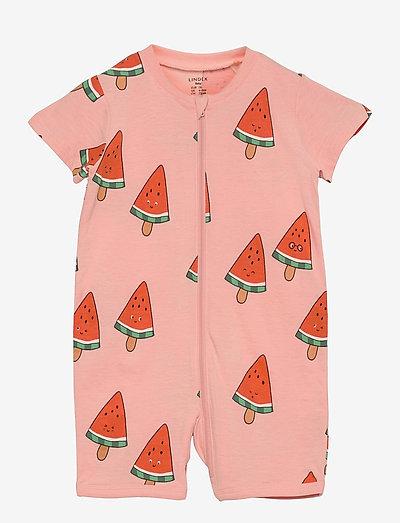 Pyjamas Romper Melon - pyjamas - coral