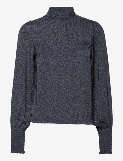 Blouse Alma - blouses met lange mouwen - blue