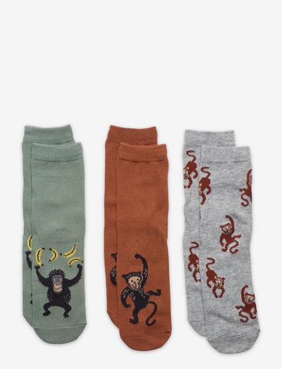 Sock SB monkey - strumpor - brown