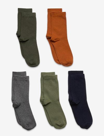 Socks 5p BB plain fashion col - strumpor - orange
