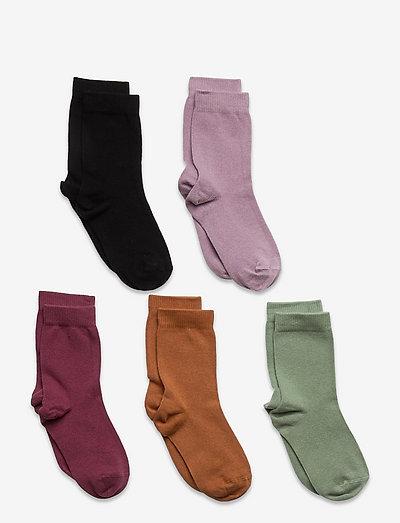 Socks 5p SG plain fashion col - strumpor - lilac
