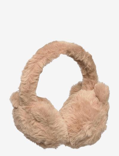 Earmuffs fur solid cat - Öronmuffar - brown
