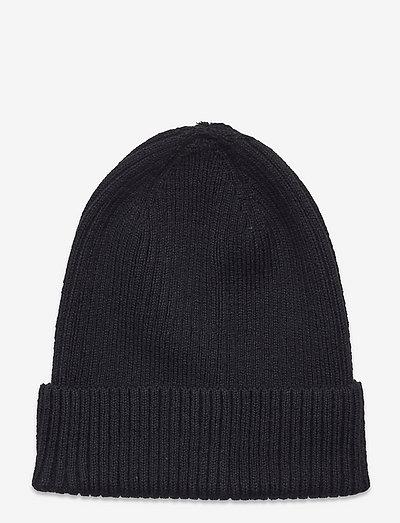 Knitted beanie basic rib - beanie - black