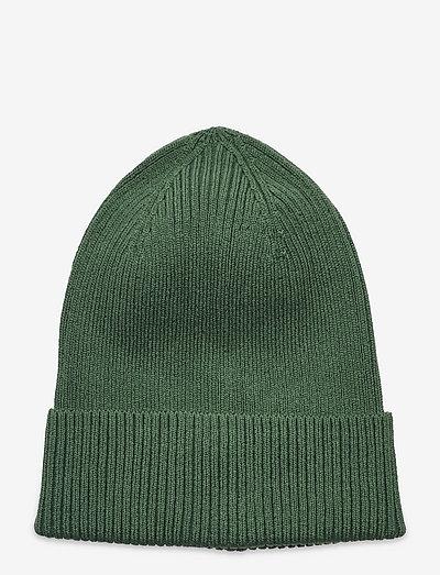 Knitted beanie basic rib - beanie - green