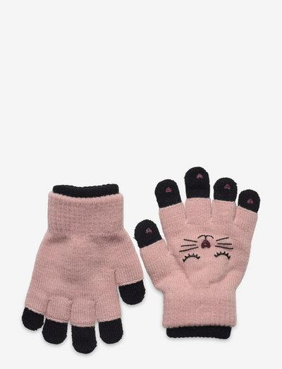 Gloves magic cat double - vantar - pink