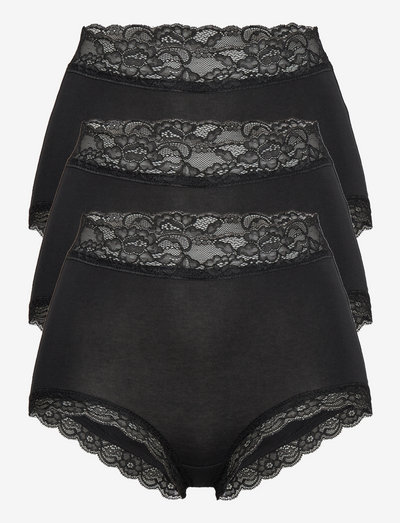 Brief 3 pack Emelie lace Class - hipster & boyshorts - black