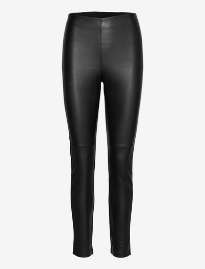 Trousers Ronna - leren broeken - black