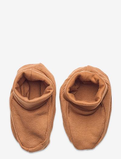 Footies rib - lära-gå-skor - brown