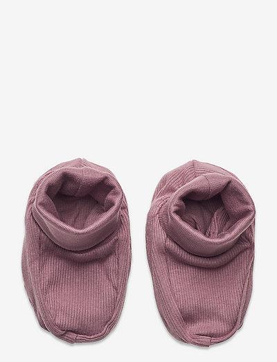 Footies rib - lära-gå-skor - lilac