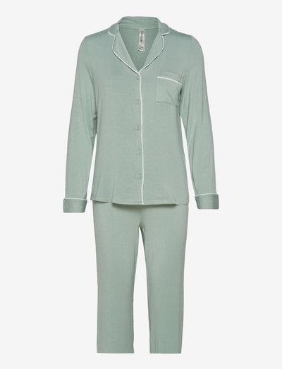Soft Piping Pj Jersey Viscose - pyjamas - aqua
