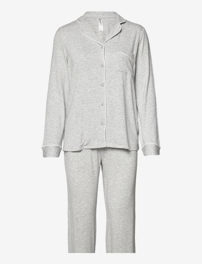 Soft Piping Pj Jersey Viscose - pyjamas - grey