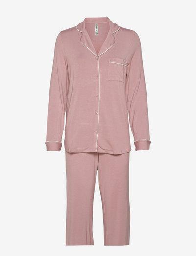 Soft Piping Pj Jersey Viscose - pyjamas - pink