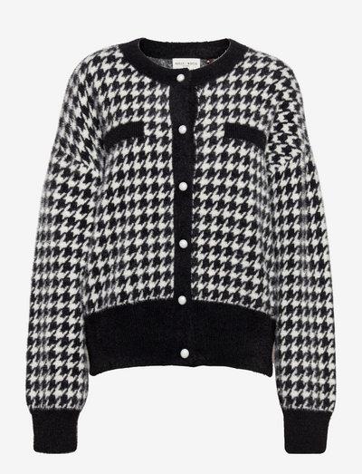 Cardigan Ella knitted - vesten - black