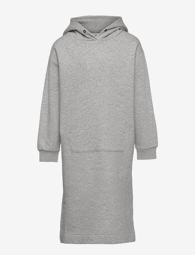 Dress hoodie Stella - klänningar - grey