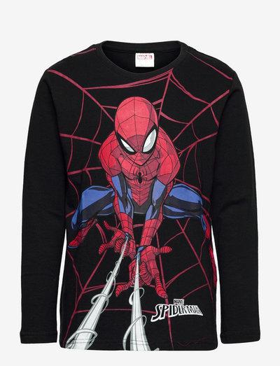 Top LS Spiderman - langärmelige - black