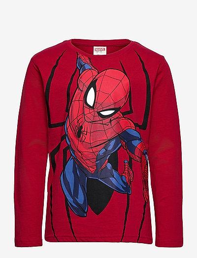 Top LS Spiderman - langärmelige - red