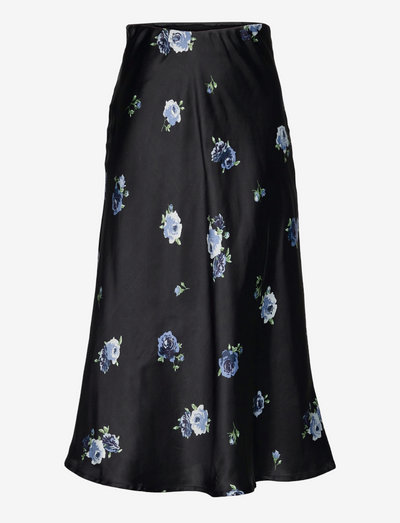 Skirt Roya satin aop - kjolar - blue