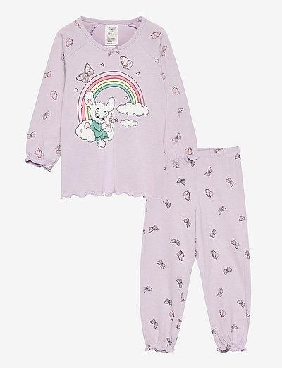 Pajama Bamse Rainbow Butterfly - zestawy - lilac