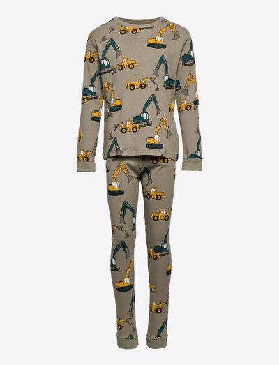 Pajama Vehicles AOP - zestawy - khaki