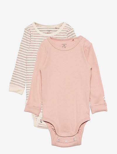 2 pack body rib - långärmade - pink