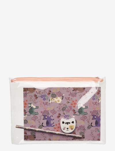 Stationery set Autum prints - pennfodral - pink