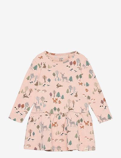 Dress aop forest hedgehog X9 - klänningar - pink