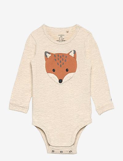 Body fox - långärmade - beige