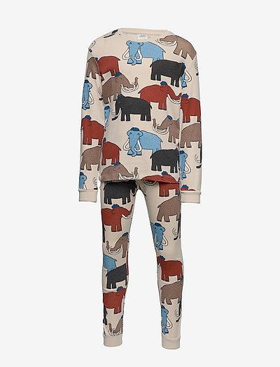 Pajama CoP Mammoth multi aop - zestawy - beige