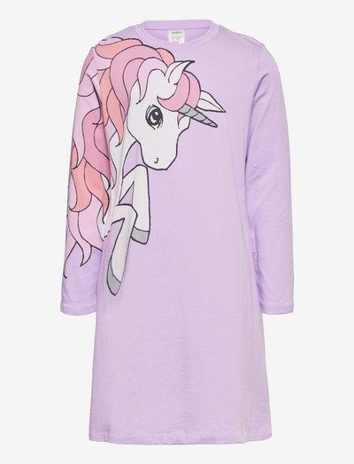 Nightdress placed unicorn - klänningar - lilac