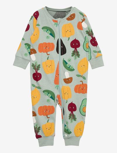 Pyjamas Veggie aop - schlafoveralls - aqua