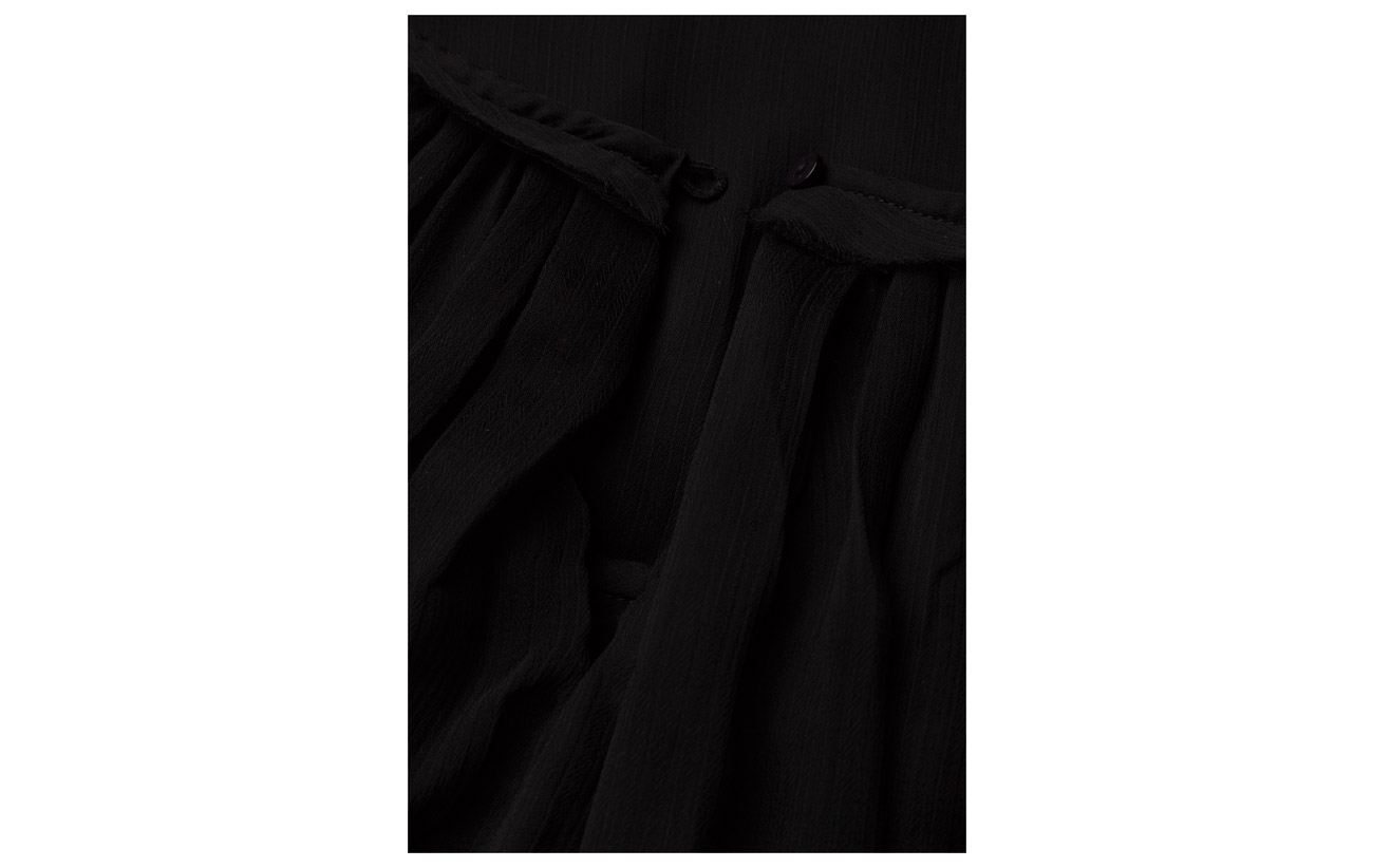 Oslo Line Of Solid 100 Jessy Polyester Black ww705q1C