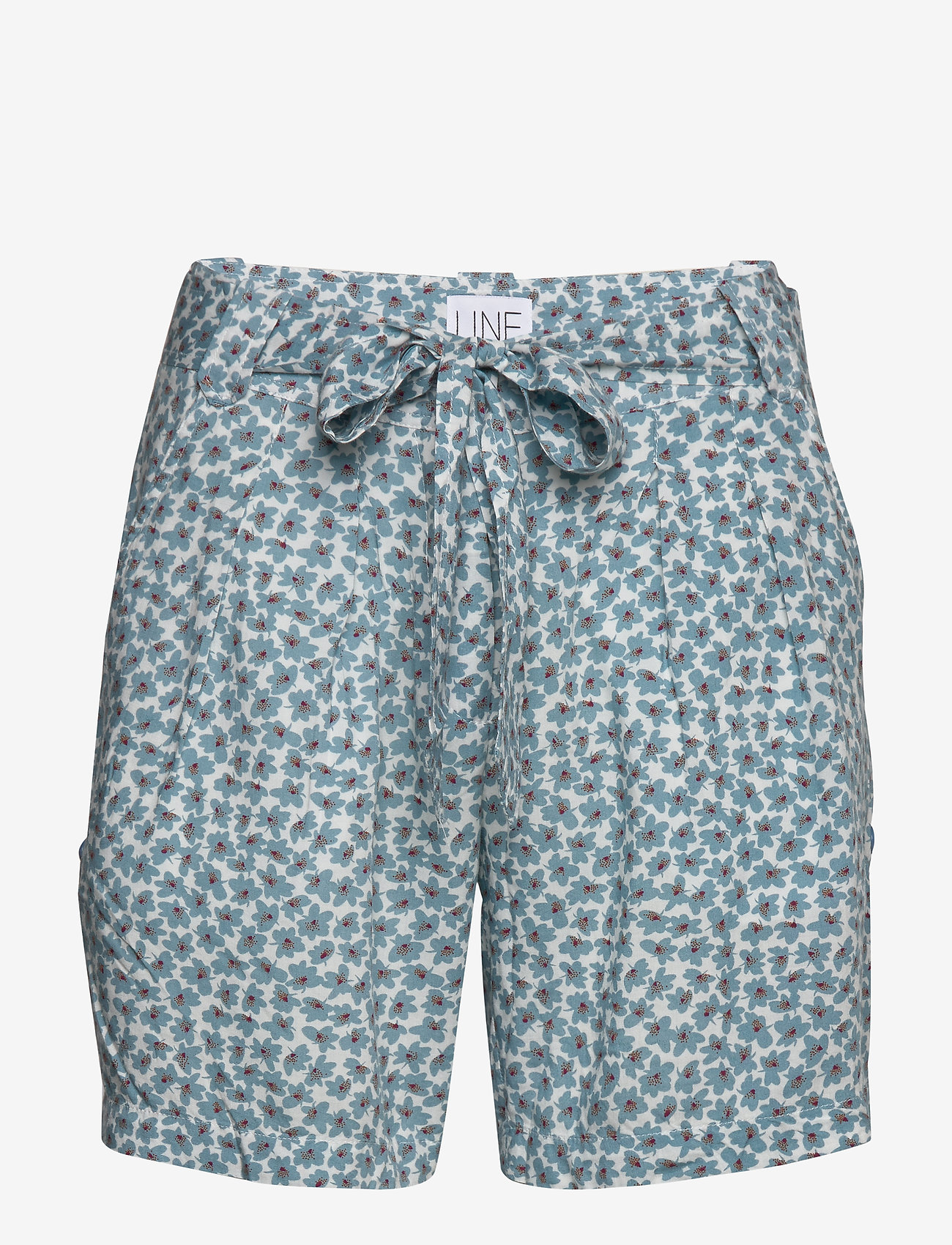 Line of Oslo - Carla print - casual shorts - blue - 0