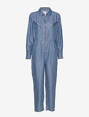 Line of Oslo - Bondi tencel - jumpsuits - blue - 0