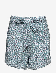Line of Oslo - Carla print - casual shorts - blue - 2
