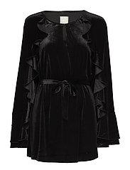 Romy velvet - BLACK