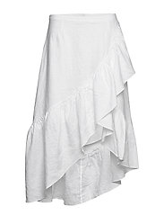 Wendy linen solid - WHITE