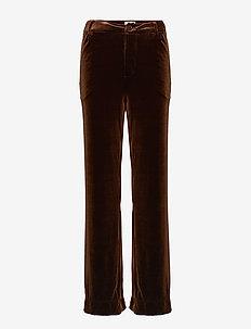Aladdin velvet - bukser med brede ben - brown