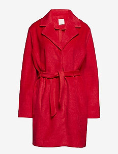 Barbara wool - wool coats - red