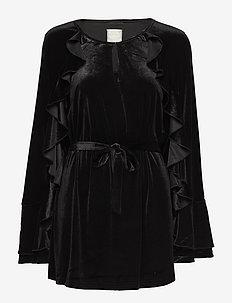 Romy velvet - tunikaer - black