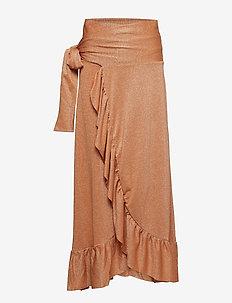 Magic lurex - spódnice długie - orange