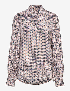 Kristin star - langærmede bluser - print