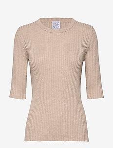 Mary tencel - strikkede toppe og t-shirts - sand
