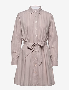 Barbara short stripe - shirt dresses - pink