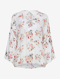 Blossom - long sleeved blouses - white
